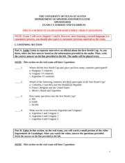 Examen # 3 Format and Examples