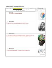 Unit 1  Vocabulary - Introduction & Memory.docx