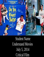 Film Industry Presentation - Do The Right Thing Final.pptx