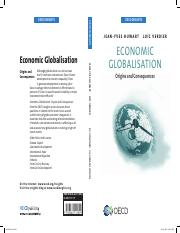 -Economic globalisation - Origins and Consequences- by the OECD Development Centre