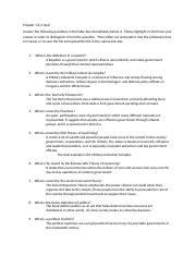 PSC Chapter 1 and 2 Worksheet