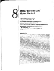 Motor systems and motor control
