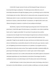 SOCIETY AND TECHNOLOGICAL CHANGE Chapter20Summary.docx