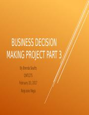 Powerpoint part 3 Business Decision Making Project.pptx