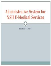 Administrative System for NSH E-Medical Services.pptx