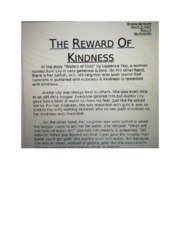 The Rewards of Kindness Theme Essay