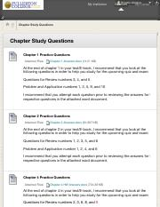 Chapter Study Questions  ECON 101 F-101 ...