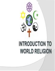 Intro to World Religions (Sept 2011).ppt
