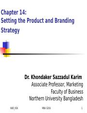 Chap14_Setting the Product and Branding Strategy_KSK