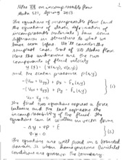 MATH 521 DISCRETIZATIONS OF STOKES FLOW NOTES