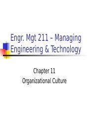 ch11 Organizational Culture.ppt