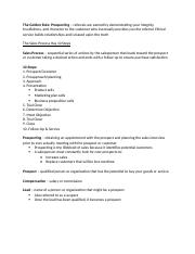 principles of selling ch 7 notes
