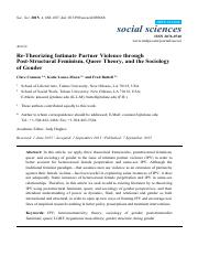 Cannon, Lauve-Moon & Buttell - Re-theorizing Intimate Partner Violence(1)