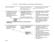 Fluid Statics worksheet 1B