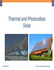 Lecture 07 Solar - Thermal and Photovoltaic.pptx