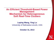 Lecture-efficient threshold based power