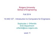 Week 11 Numerical methods I