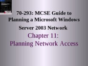 Planning A Microsoft Windows Server 2003 Network Chapter 11