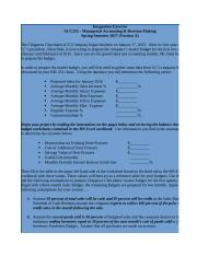 ACC 255 Int Proj ASSIGNMENT TEMPLATE Spring 2017 Form A.xls