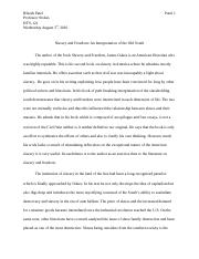 Slavery and Freedom essay.doc