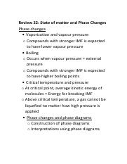 Review 22 Phase changes