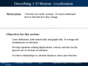Chapter 2 6-Acceleration in 1 dimension