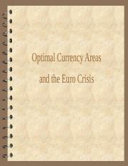 Optimal currency areas and the euro(1).ppt