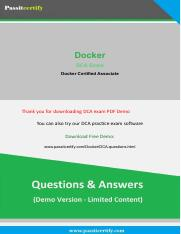 Docker DCA Exam Questions Demo