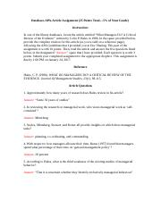 DMJohn Database-APA-Article Assignment.docx