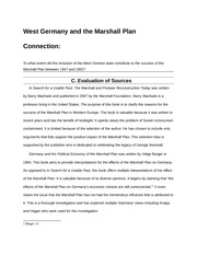 Germany Extended Essay Source Evaluation