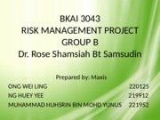 risk assignment Maxis Berhad