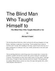 2 The Blind Man Who Taught Himself to see.docx