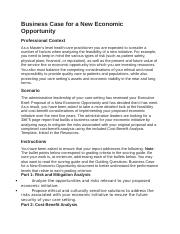 Unit 6 Assignment  Business Case for a New Economic Opportunity.docx