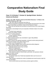 Comparative Nationalism Final Study Guide - Google Docs