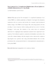 004.Development of a Computerised Maintenance Stores System in a Distiller Manufacturer (13p)