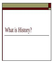 What is History 3.ppt