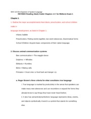 SHS 320 Exam 1 Study Guide