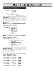 MATH 12 Statistics Worksheet 1 Solutions