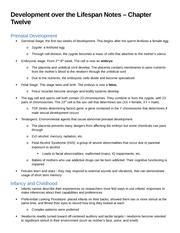 Development over the Lifespan Notes