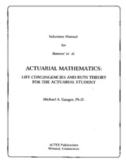 Solutions for Actuarial Mathematics