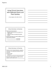 Applications of Clinical Interviews Notes