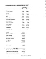 Accounting - Homework One Cash Flow Statement