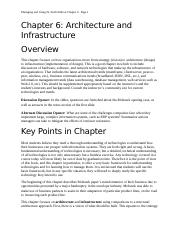 Chapter 6-Architecture and Infrastructure.docx