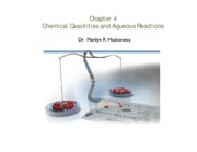 Ch 4 Aqueous Reactions Chemical quantities