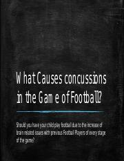 What Causes concussions in the Game of Football