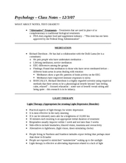 Class Notes - 12-3-07