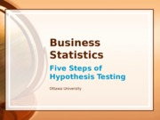 Business Statistics - Final Project
