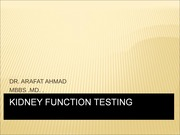 renal function test 2
