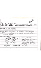 Cell communication notes