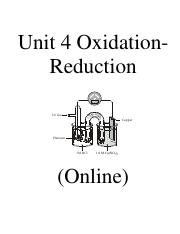 Chem 12 Online Redox Notes